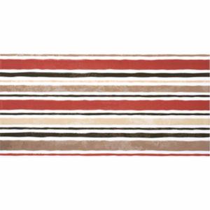 Панно Дюна полосы 30х60см бежевый с красным