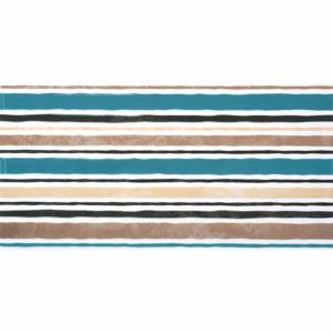 Панно Дюна полосы 30х60см бежевый с бирюзовым