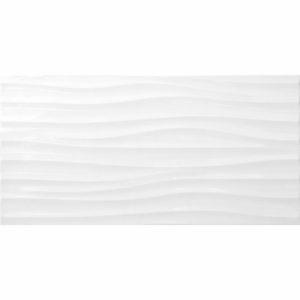 Настенная плитка Дюна 30х60см белая рельефная