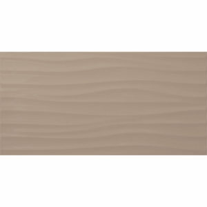 Настенная плитка Дюна 30х60см тёмно-бежевая рельефная