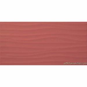 Настенная плитка Дюна 30х60см красная рельефная