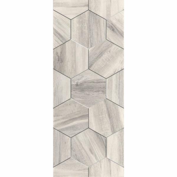 Настенная плитка Миф 20х50см белая соты