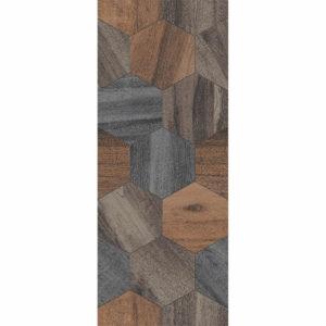 Настенная плитка Миф 20х50 см коричневая соты