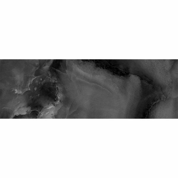 Настенная плитка Асуан 25*75см черная глянцевая