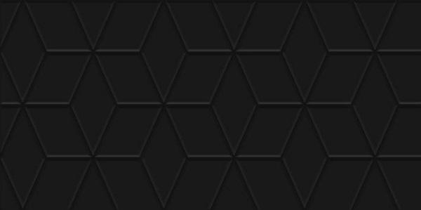 Плитка настенная Tabu чёрная рельеф 300*600