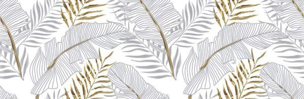 Настенная плитка декор2 Диаманте 200x600 мм листья