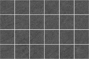 Мозаика Story чёрная 200х600 мм