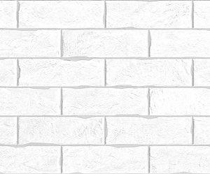 Плитка настенная Brick White 750 х 253 мм