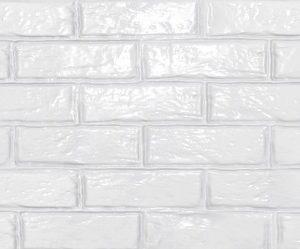 Плитка настенная Brick White Gloss 750 х 253 мм