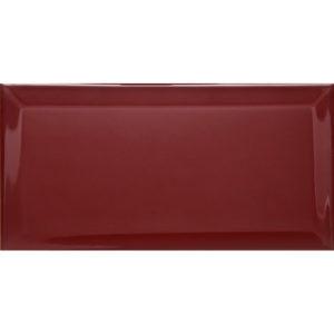 BНастенная плитка (Кабанчик) Biselado Burdeos Brillo 10x20 см