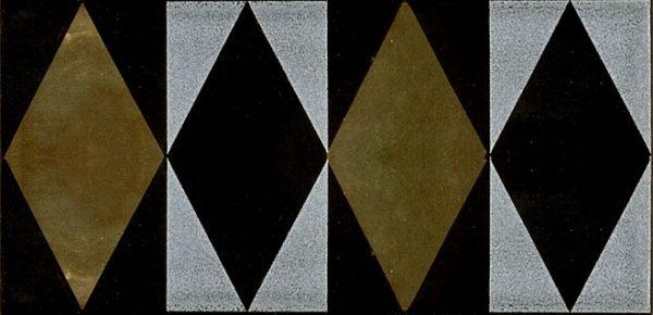 Плитка настенная Декор Граньяно золото 7,4х15 см