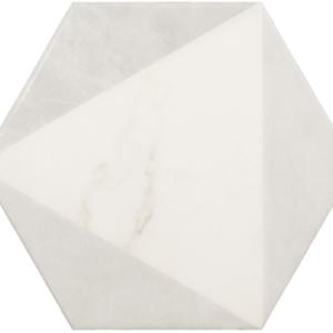 Плитка керамическая напольная CARRARA Hexagon Peak 17,5x20 см