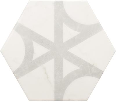 Плитка керамическая напольная CARRARA Hexagon Flow 17,5x20 см